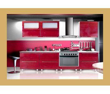 Кухонный гарнитур из пластика Сакура-31.  2,2 м