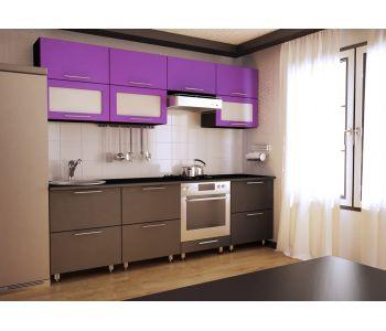 Кухонный гарнитур из пластика Сакура-31   2,4 м