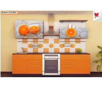 Кухня с фотопечатью Алиса 2 2м
