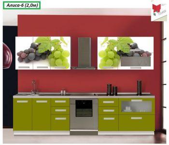 Кухня  с фотопечатью Алиса 6 (2,0м)