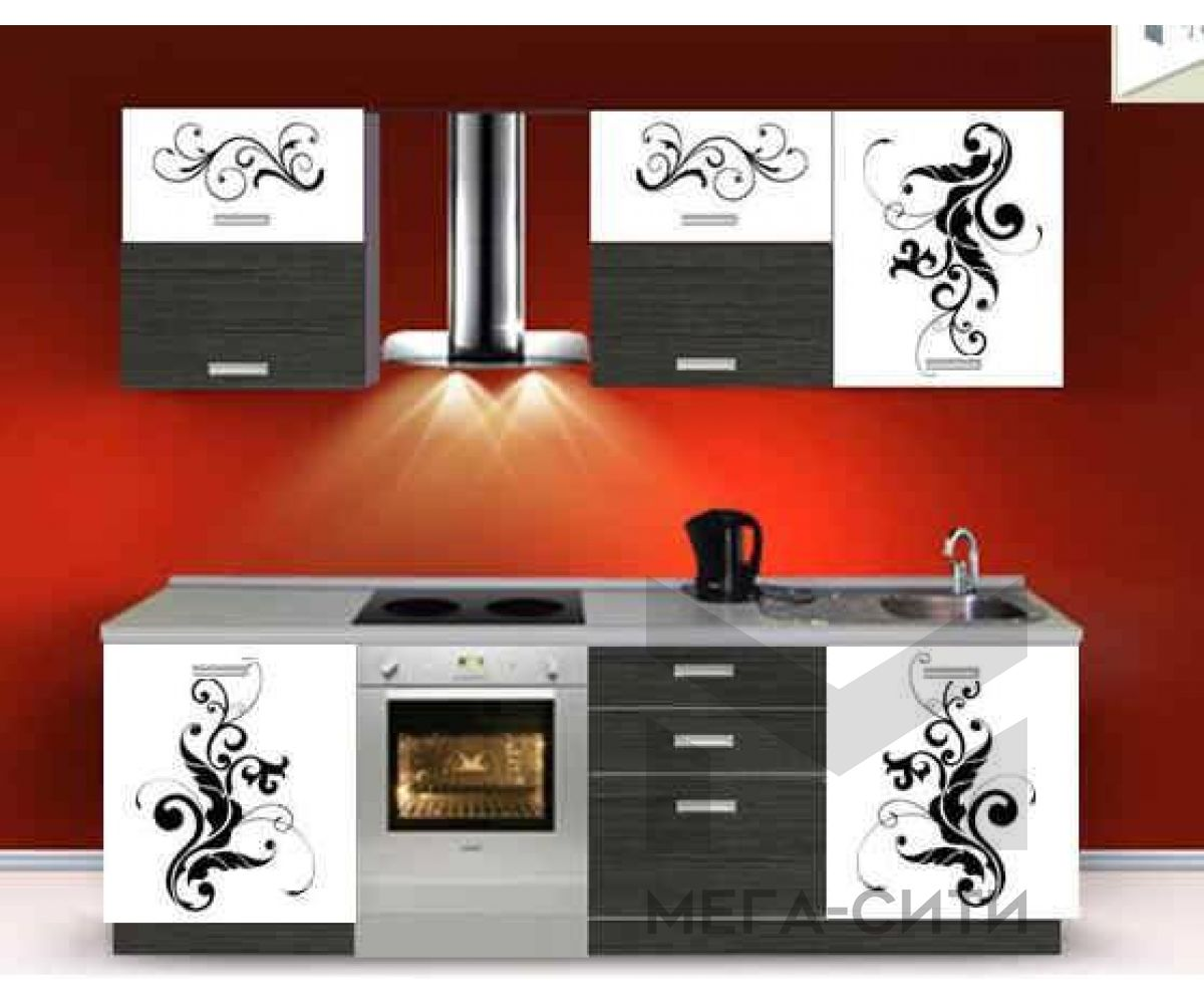 Кухня с фотопечатью  Мальва