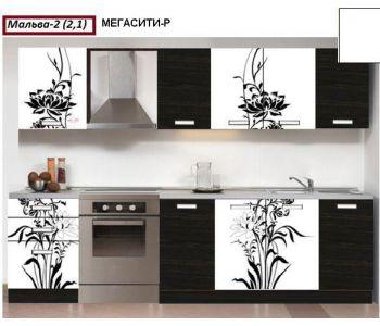 Кухня с фотопечатью Мальва 2