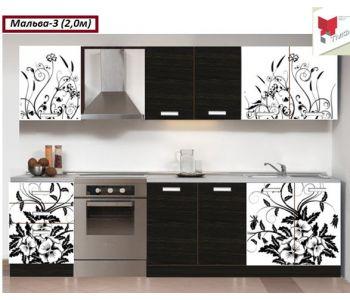 Кухонный гарнитур с фотопечатью Мальва 3