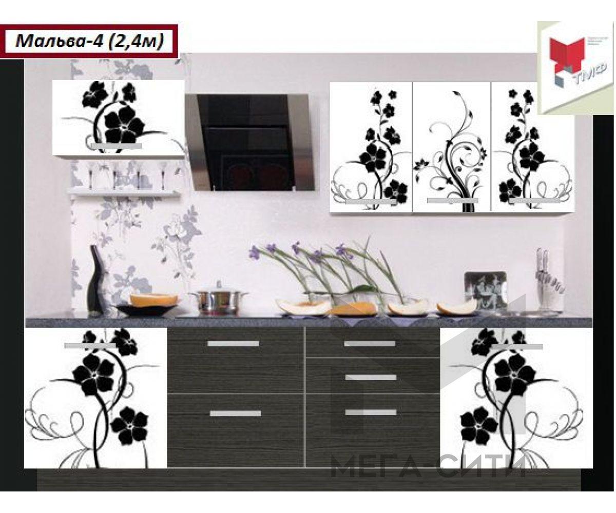 Кухонный гарнитур с фотопечатью МАЛЬВА 4