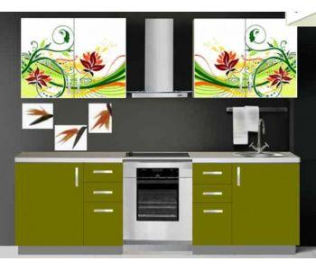 Кухонный гарнитур с фотопечатью  ПОЛИНА