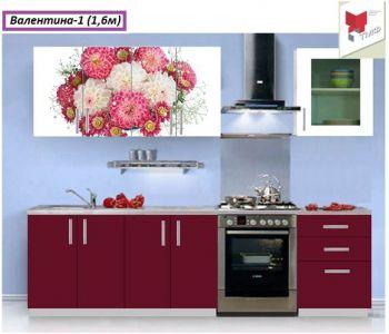Кухня с фотопечатью  Валентина 1