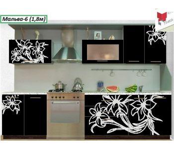 Кухонный гарнитур с фотопечатью Мальва №6