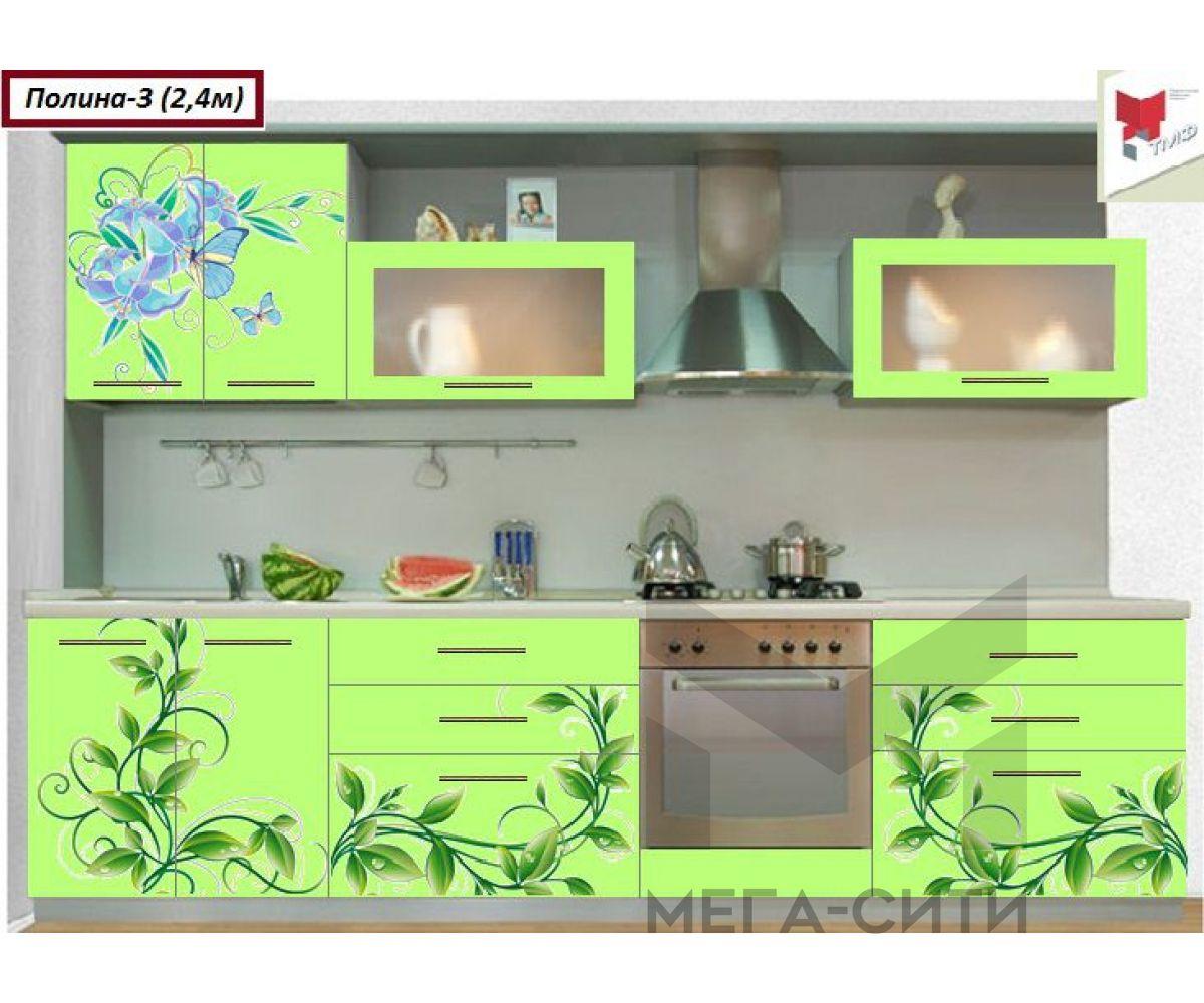 Кухонный гарнитур с фотопечатью  Полина №3