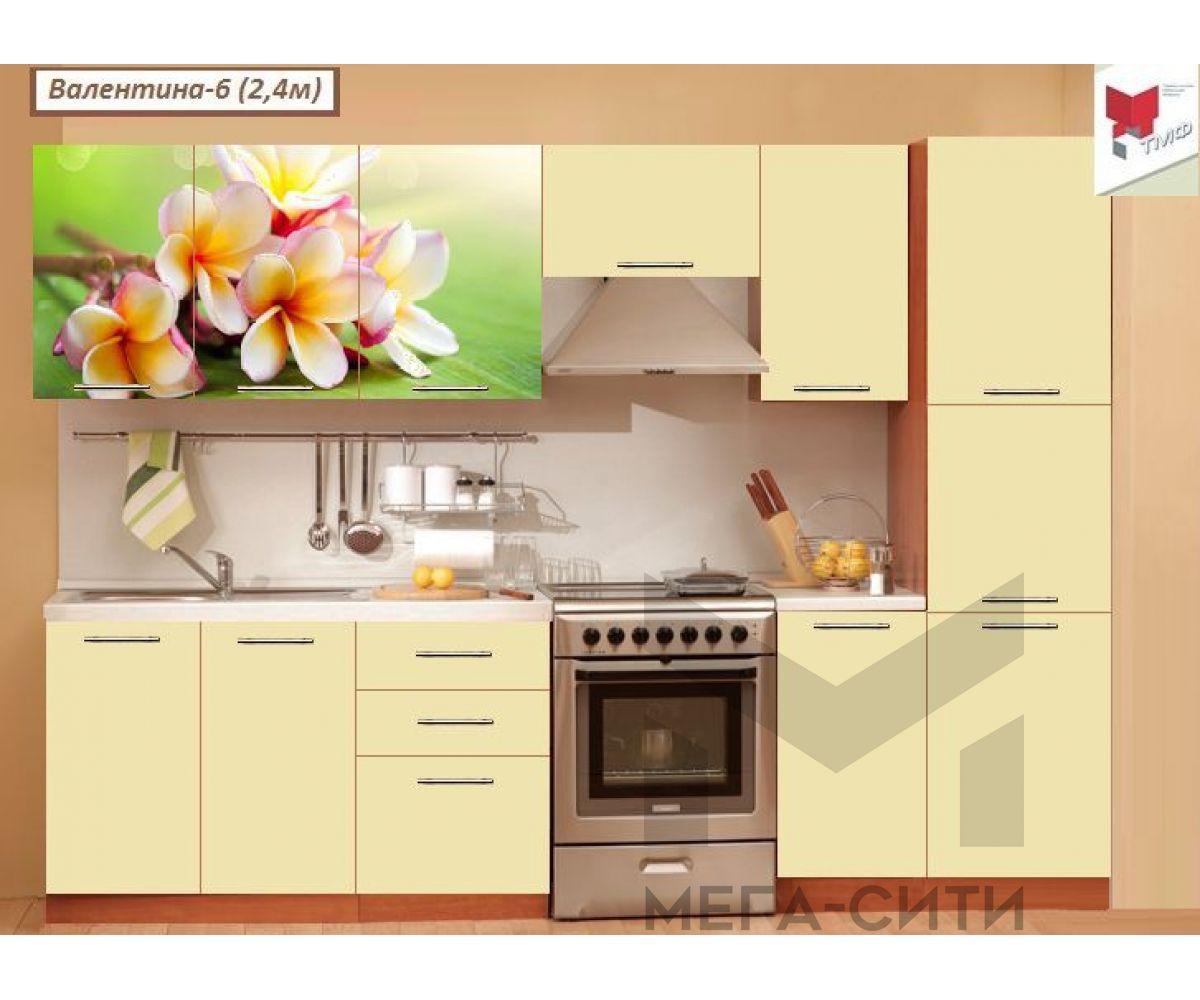 Кухня с фотопечатью  Валентина №6