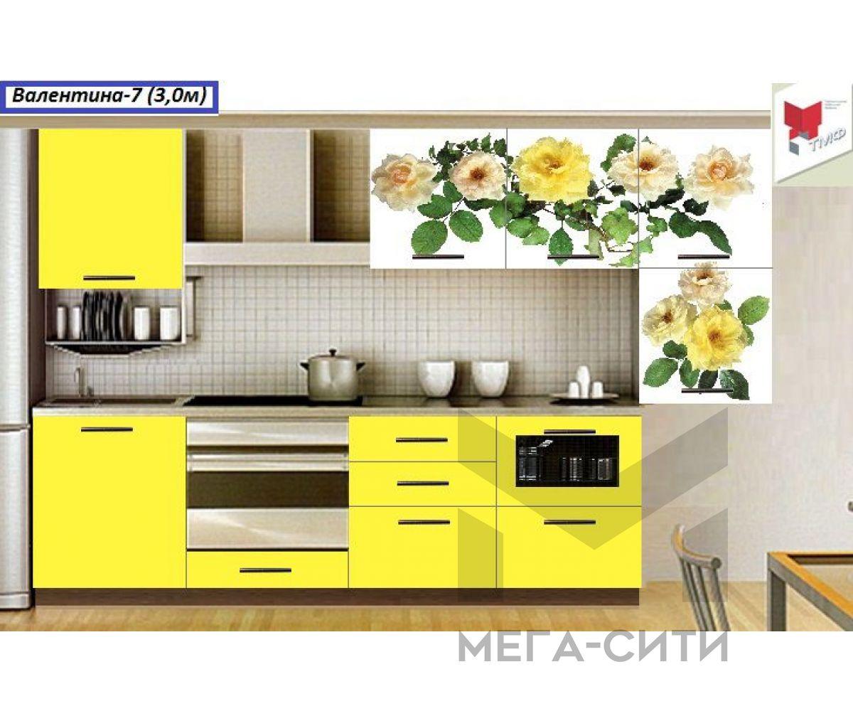 Кухня с фотопечатью  Валентина №7