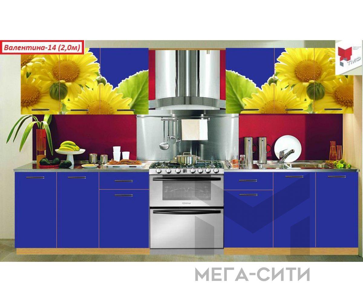 Кухня с фотопечатью  Валентина №14
