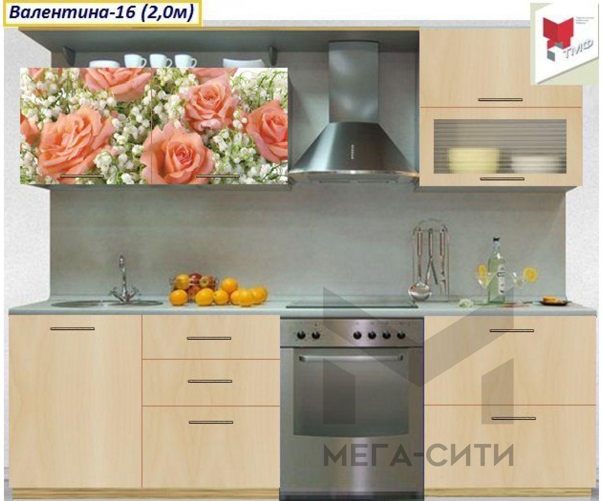 Кухня с фотопечатью  Валентина №16
