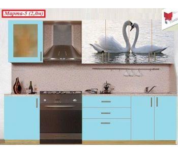Кухонный гарнитур с фотопечатью  Марта №5
