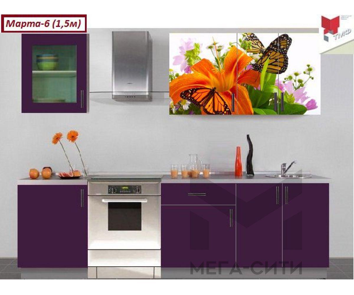 Кухонный гарнитур с фотопечатью Марта №6