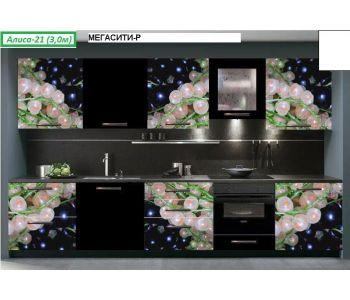 Кухня с фотопечатью  Алиса №21 (3,0м)