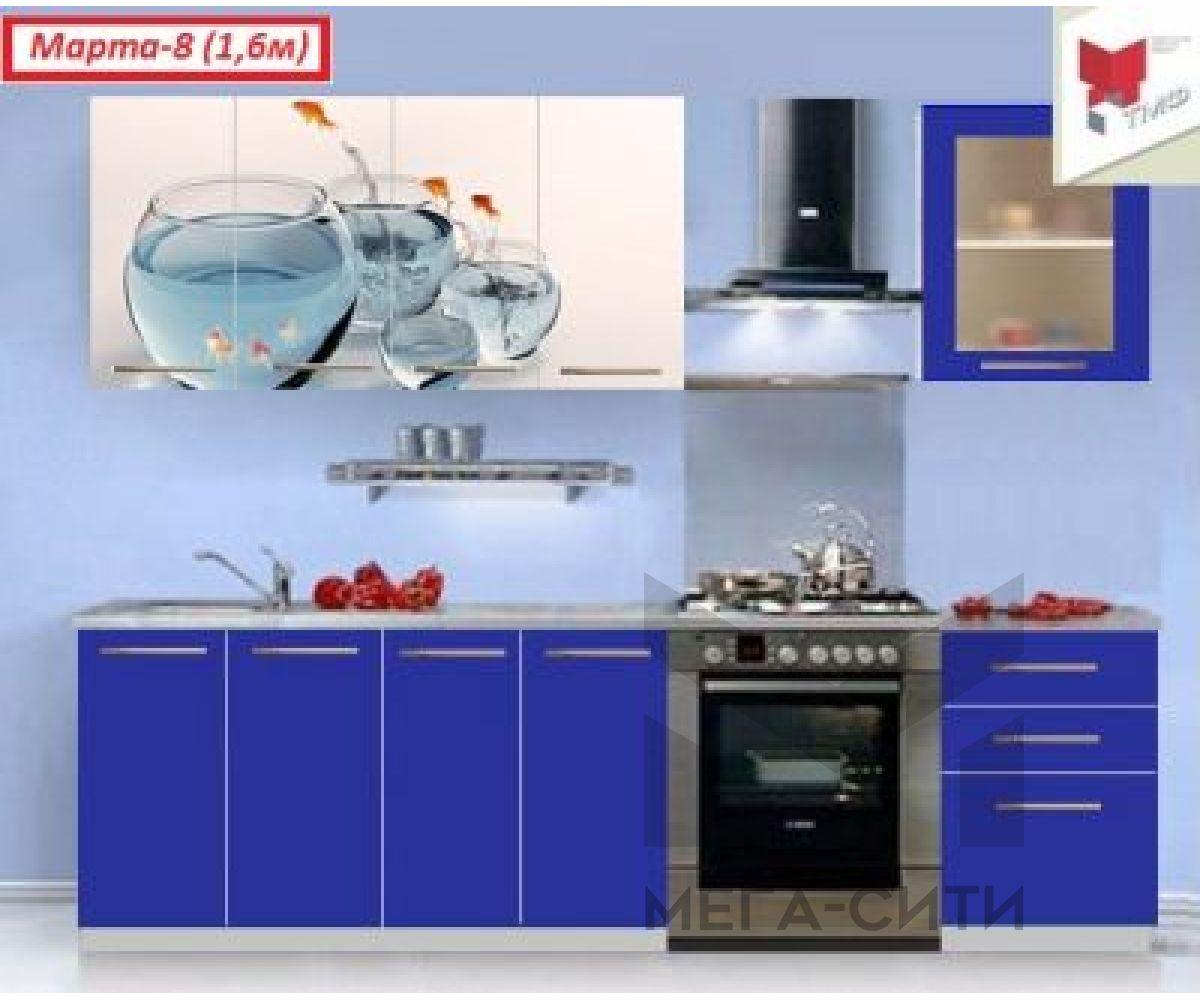 Кухонный гарнитур с фотопечатью Марта №8 ХИТ Продаж