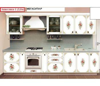 Кухня  с фотопечатью Анжелика 1