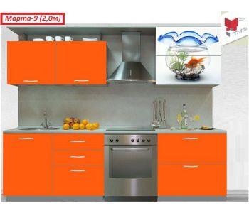 Кухонный гарнитур с фотопечатью Марта-9 (2,0м)