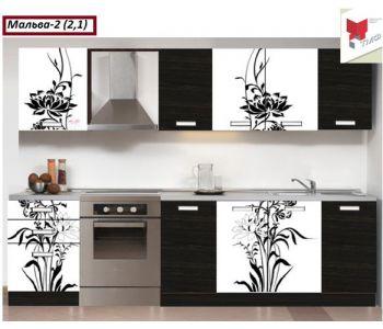 Кухня с фотопечатью Мальва-2 (2,1м)
