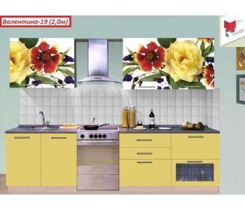 Кухня  с фотопечатью Валентина-19 (2,0м)
