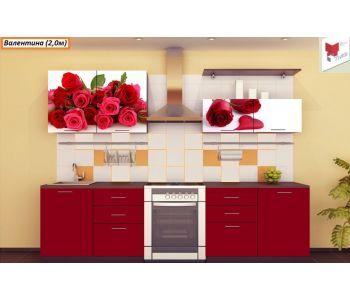 Кухня с фотопечатью  Валентина-13 (2,0м)