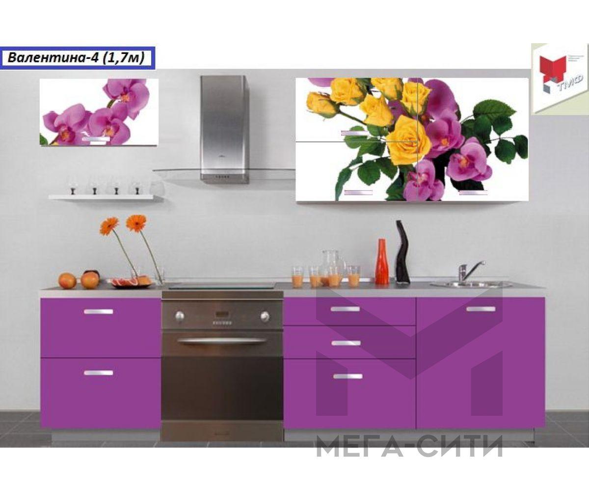 Кухня с фотопечатью  Валентина-4 (1,7м)