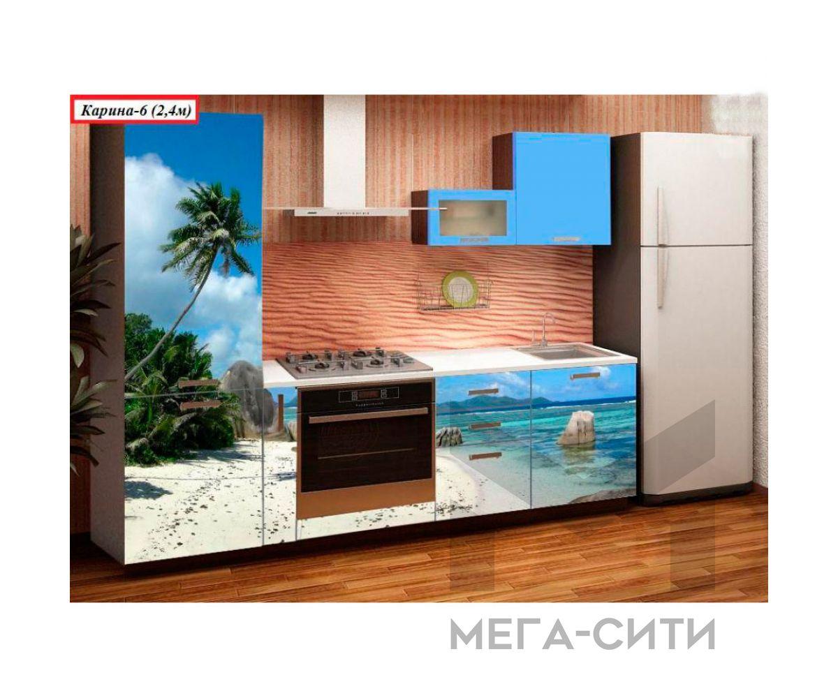 Кухня с фотопечатью  КАРИНА 6