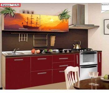 Кухня с фотопечатью  КАРИНА 7 (2,5 м)