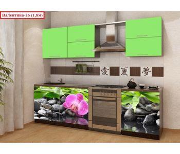 Кухня с фотопечатью  Валентина 26 (1,8м)