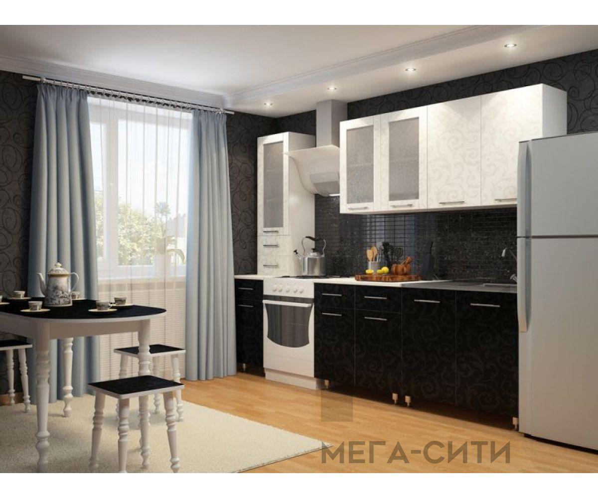 Кухонный гарнитур МДФ   глянец эконом Надежда 13   2 метра
