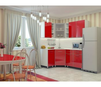 Кухонный гарнитур МДФ   глянец эконом Надежда 21  Размер 1.5 м1.4м