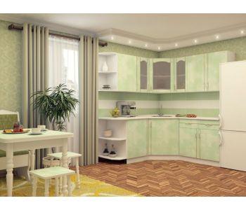 Кухонный гарнитур МДФ   глянец эконом Надежда 22   Размер 1.5 м1.4м