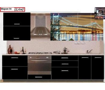 Кухонный гарнитур с фотопечатью  Мария 56