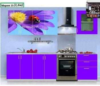 Кухонный гарнитур с фотопечатью  Мария 35