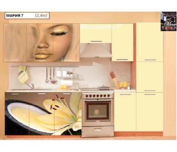 Кухонный гарнитур с фотопечатью  Мария 7