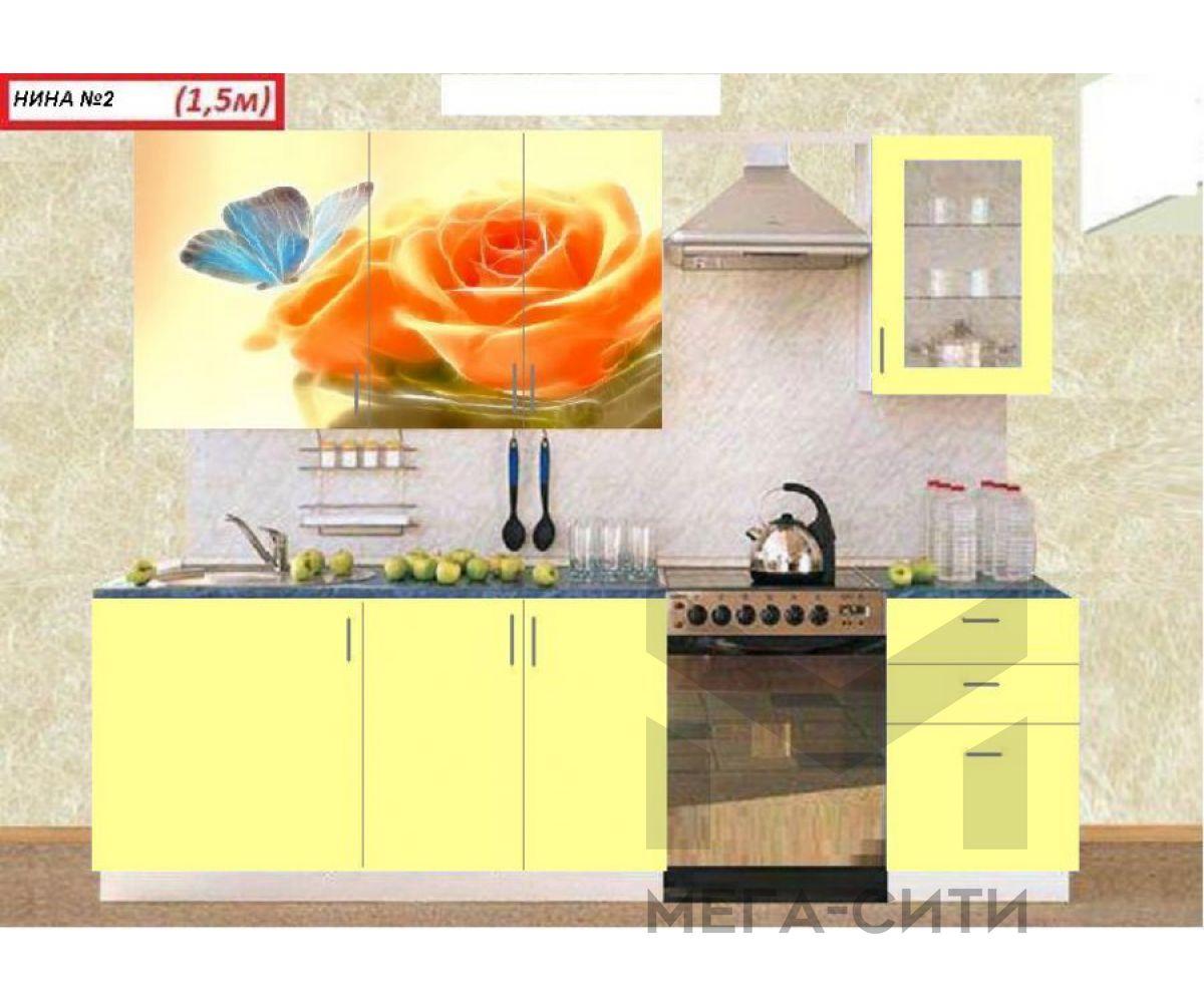Кухонный гарнитур с фотопечатью  НИНА 2