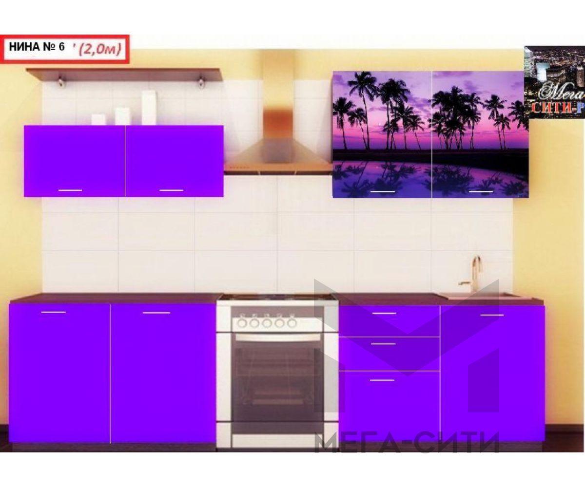 Кухонный гарнитур с фотопечатью  НИНА 6