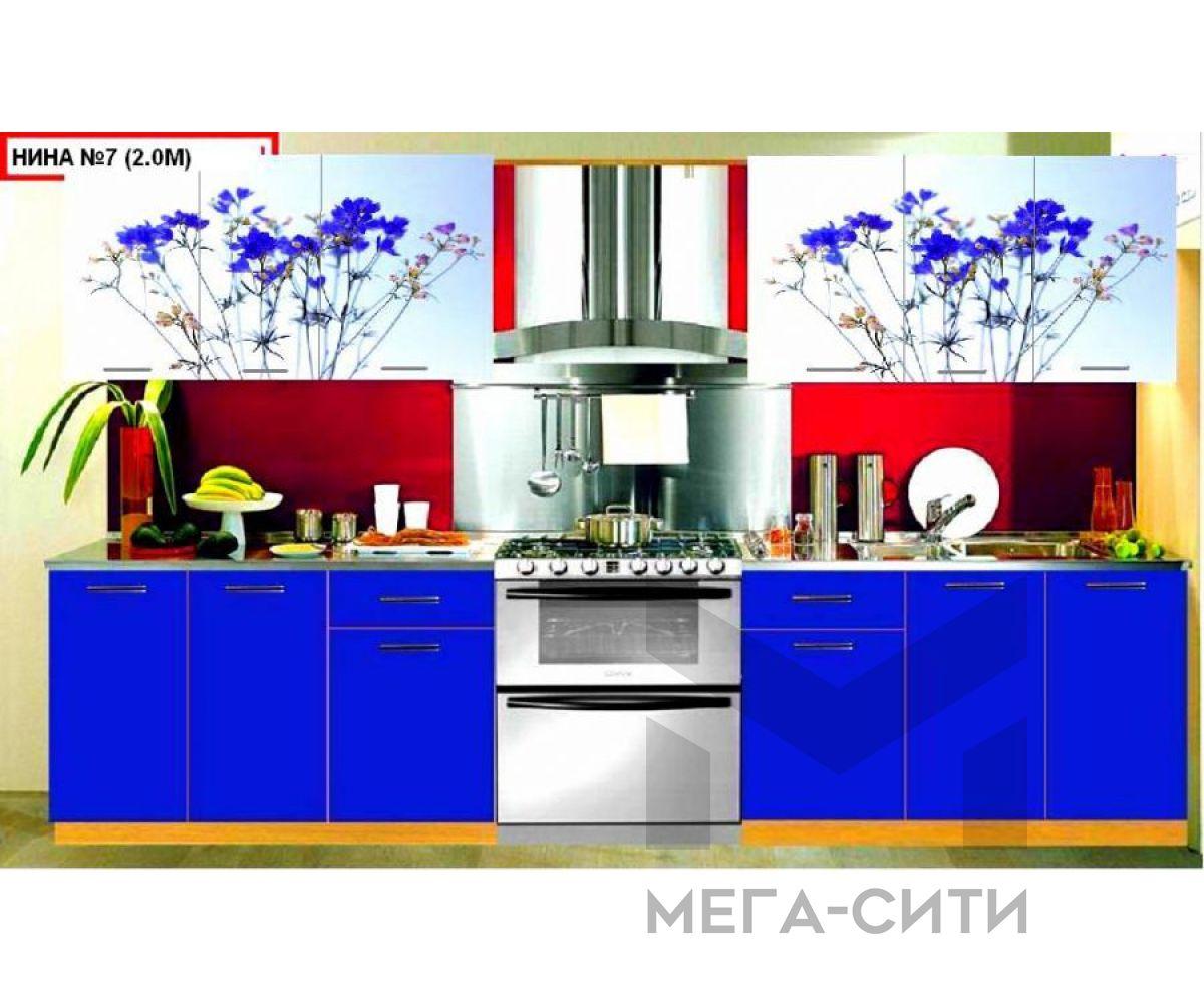 Кухонный гарнитур с фотопечатью  Нина 7