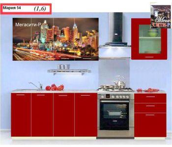 Кухонный гарнитур с фотопечатью  Мария 54 1.6 м