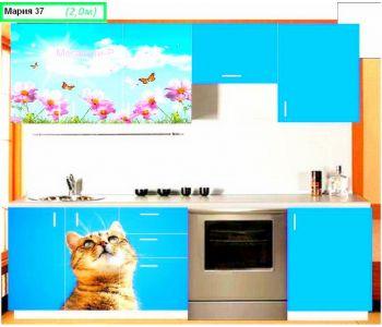 Кухонный гарнитур с фотопечатью  Мария 37 2 м