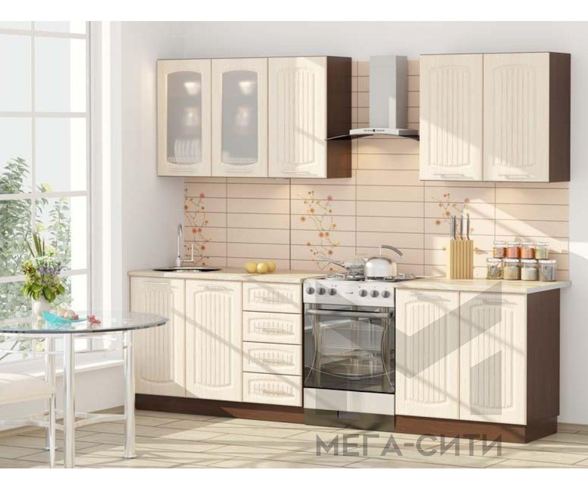 Кухонный  гарнитур МДФ Юлия (1,6 м) МДФ ПВХ матовый