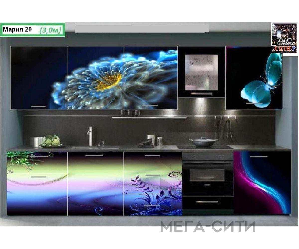 Кухонный гарнитур с фотопечатью Мария 20   3 м