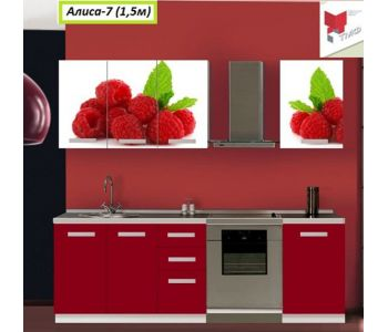 Кухня  с фотопечатью Алиса 7 1,5м