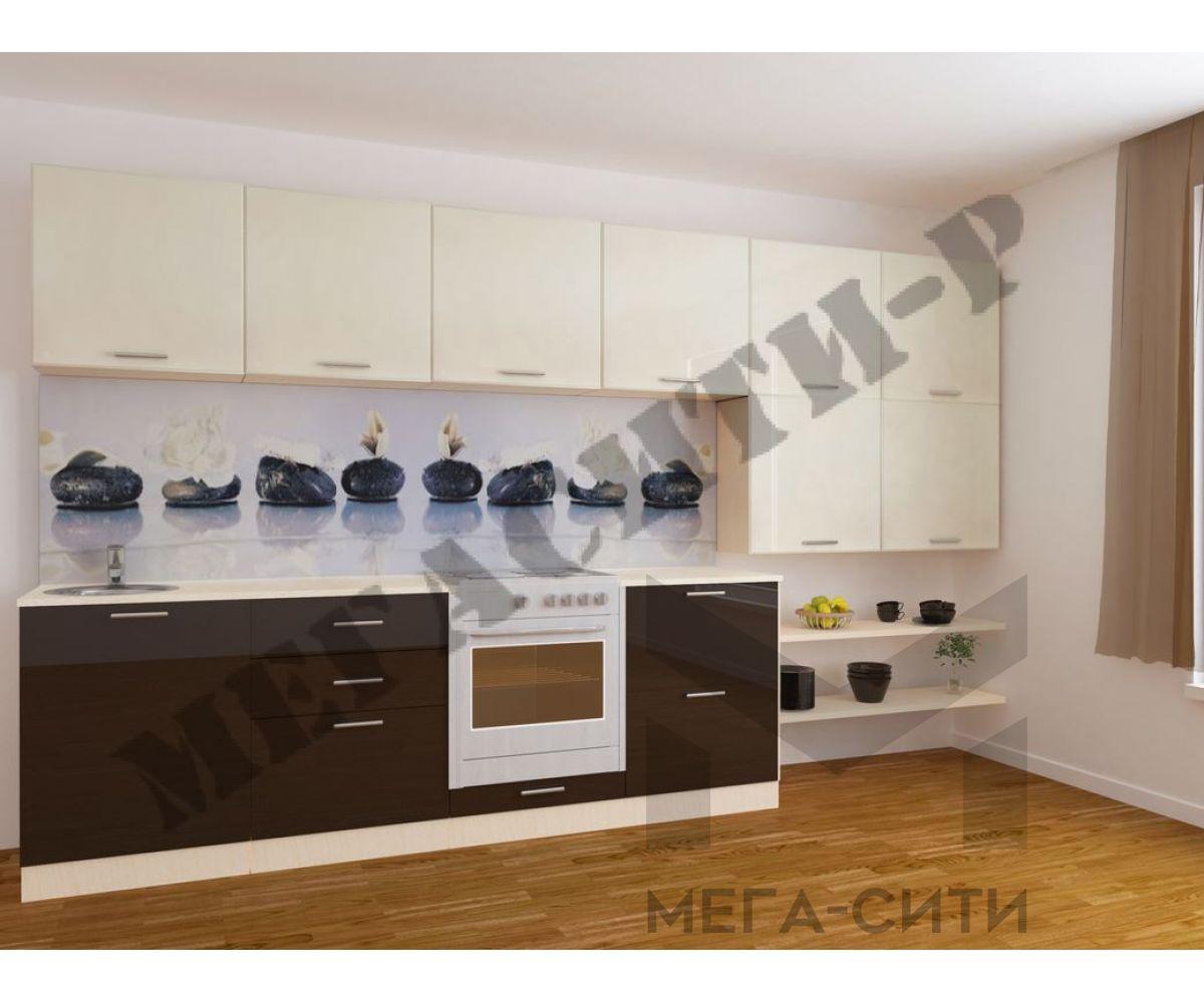 Кухонный гарнитур  Магнолия 3,6 м МДФ ПВХ глянец