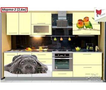 Кухонный гарнитур с фотопечатью  Марта №2