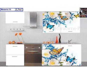 Кухонный гарнитур с фотопечатью МЕЛИТТА № 15 1.7м НОВИНКА