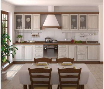 Кухня с фотопечатью   Анжелла 3,2 м с патиной