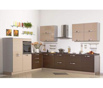 Кухонный гарнитур  МДФ Вдохновение  3,4х2,4 м МДФ ПВХ глянец