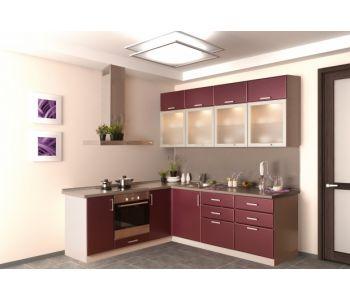 Кухонный гарнитур из пластика БЭТТИ 2*2,4м