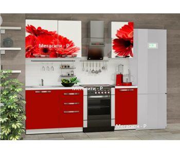 Кухня   с фотопечатью Бордо 1,5 м НОВИНКА